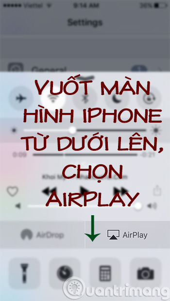 Bật AirPlay